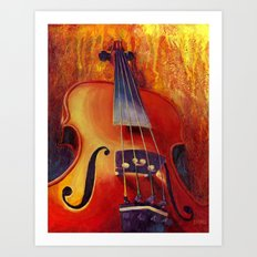 Fit as a Violin #3 Art Print