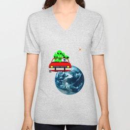 Ride to Mars selfie Unisex V-Neck