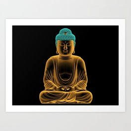 Buddha glow Art Print
