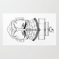 gentleman Area & Throw Rugs featuring Gentleman  by Brandon Harmon Design