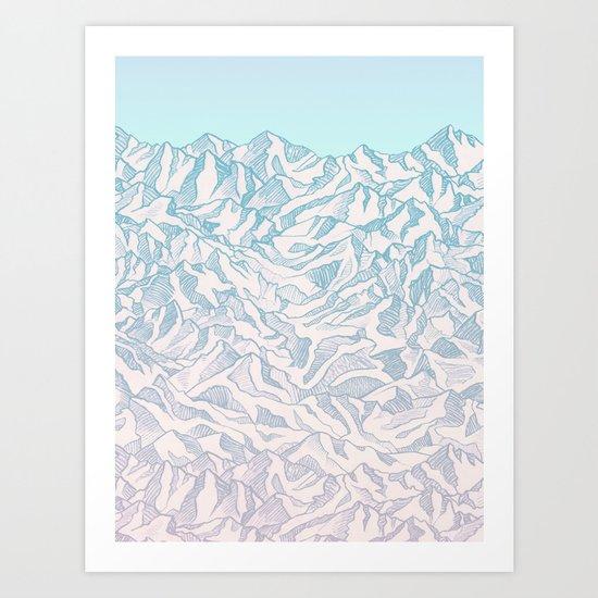 Where eagles fly Art Print