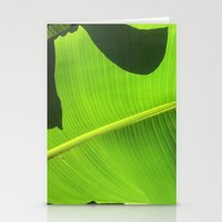 banana leaf Stationery Cards featuring Banana Leaf, Dark Shadows by Glenn Designs
