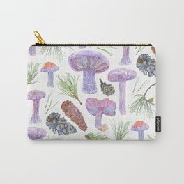 Wood Blewits and Pine Pattern Carry-All Pouch