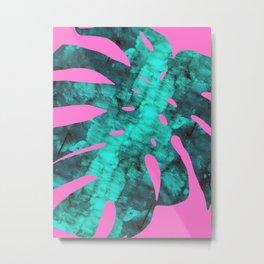 Tropial leaf painting Metal Print