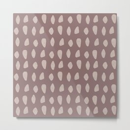 Carnac Stones Earthy Abstract | Pattern Metal Print