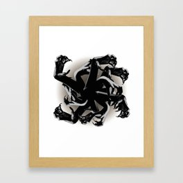 Claws Attack  Framed Art Print
