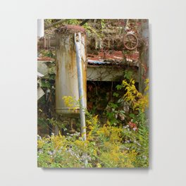 Machine vs. nature Metal Print