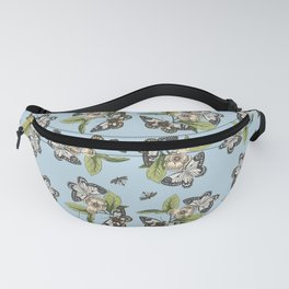 Butterflies and Camillias Fanny Pack