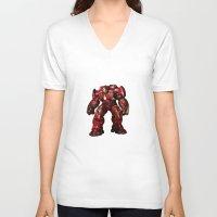 iron man V-neck T-shirts featuring IRON MAN iron man by alifart