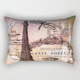 Eiffel tower collage Rectangular Pillow