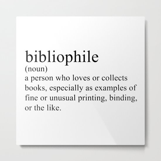 Bibliophile Metal Print