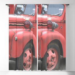Vintage Fire Truck Full Blackout Curtain