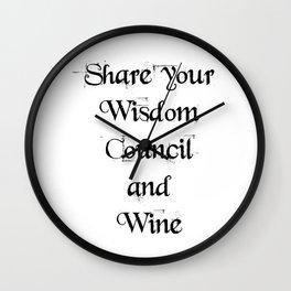 Share Wisdom Wall Clock