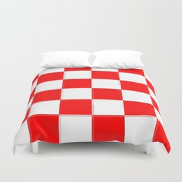 Red & White Checkerboard Duvet Cover