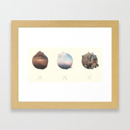 Complete Coast to Coast Framed Art Print