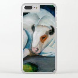 """Franz Marc """"The Steer (also known as The Bull or White Bull)"""" Clear iPhone Case"""