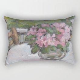 on the porch Rectangular Pillow