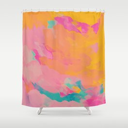 full color abstract sunset Shower Curtain