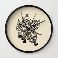 samurai Wall Clocks featuring Samurai by Scalifornian