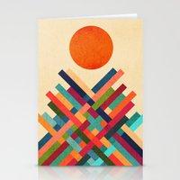 sun Stationery Cards featuring Sun Shrine by Picomodi