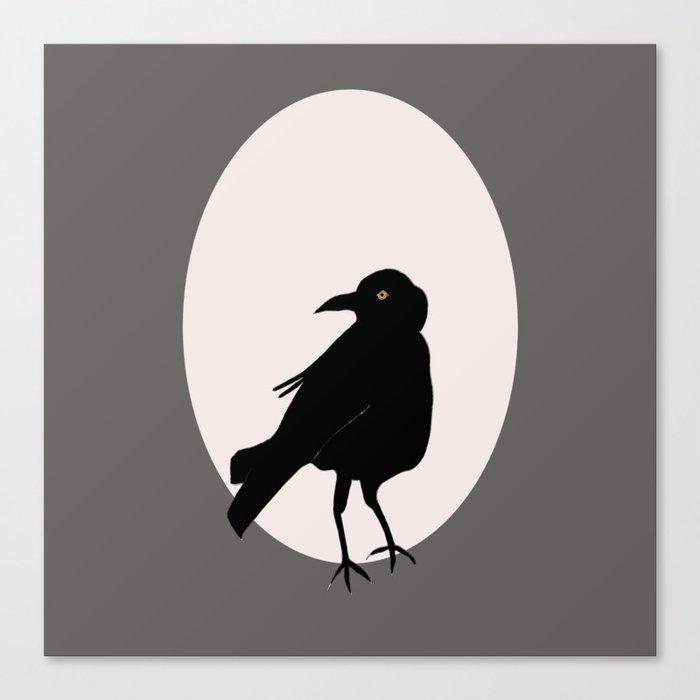 Crow Love Canvas Print