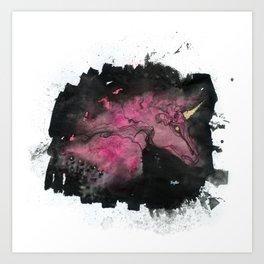 Unicorn Nebula Art Print