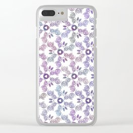 Art Nouveau Poppy Pattern Clear iPhone Case