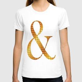 """Golden """"&"""" letter - White T-shirt"""