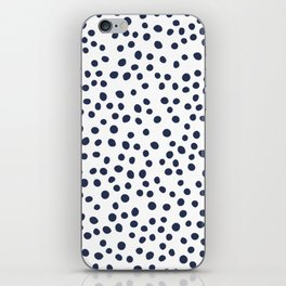 Dark blue vector doodle circle dot iPhone Skin