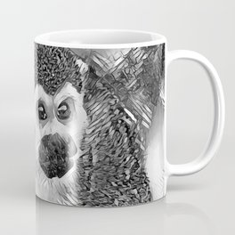 AnimalArtBW_Monkey_20170602_by_JAMColorsSpecial Coffee Mug
