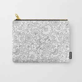 Fly EYES - Patterns GRAY - flowers, floral Carry-All Pouch