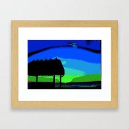 Florida Keys Sunset PA Framed Art Print