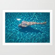 september underwater Art Print