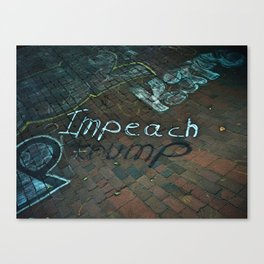 Spray paint: Impeach Trump Canvas Print