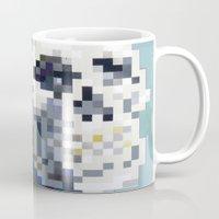 8bit Mugs featuring 8Bit Skull by Delton Demarest