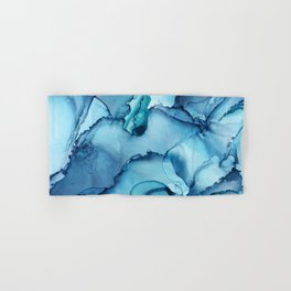 The Blue Abyss - Alcohol Ink Painting Hand & Bath Towel