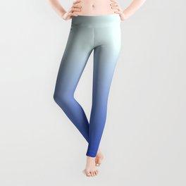 BRIGHT BLUE pastel color ombre pattern  Leggings