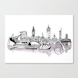 Glasgow City Skyline Canvas Print