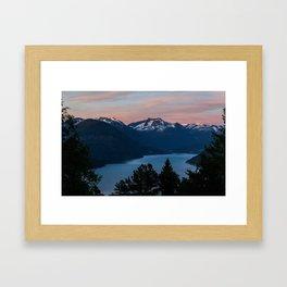 Midnight Sunset Framed Art Print