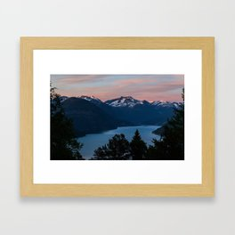 Midnight Sunset Framed Art Print