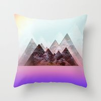 nirvana Throw Pillows featuring .nirvana. by Aja Maile