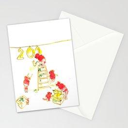 Preparando el año nuevo  Stationery Cards