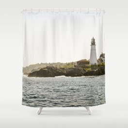 Lighthouse in Portland, Maine. Shower Curtain