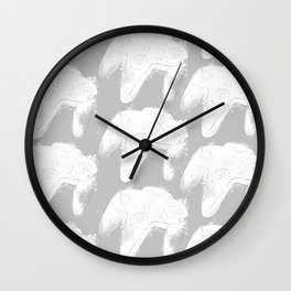 Nintendo 64 controllers (White) Wall Clock