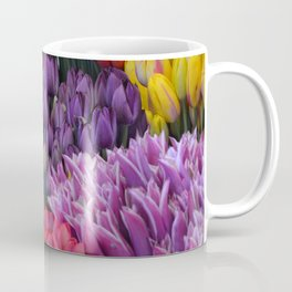 Colorful bunches of tulips Coffee Mug
