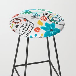 Summer sugar skulls Bar Stool
