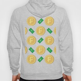 Swiss franc pattern background Hoody