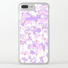 Lavender Splatter Clear iPhone Case