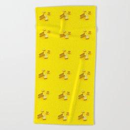 Duplo Yellow Beach Towel