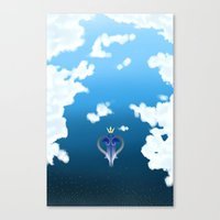 kingdom hearts Canvas Prints featuring Kingdom Hearts by Kiwikidinc